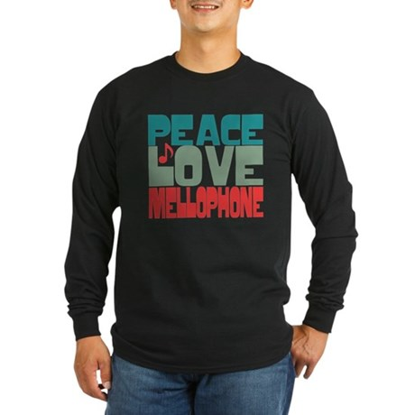 Peace Love Mellophone Long Sleeve Dark T-Shirt