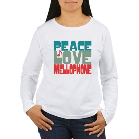 Peace Love Mellophone Women's Long Sleeve T-Shirt