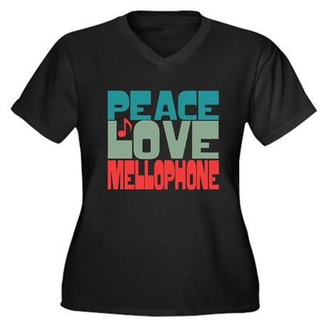 Peace Love Mellophone Women's Plus Size V-Neck Dar