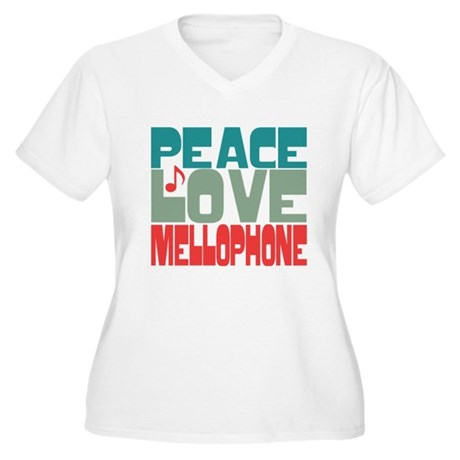 Peace Love Mellophone Women's Plus Size V-Neck T-S