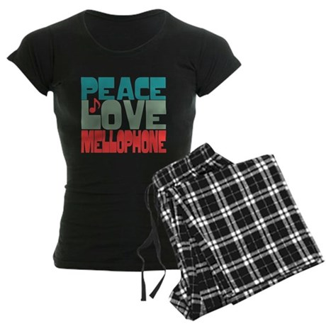 Peace Love Mellophone Women's Dark Pajamas