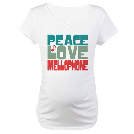 Peace Love Mellophone Maternity T-Shirt