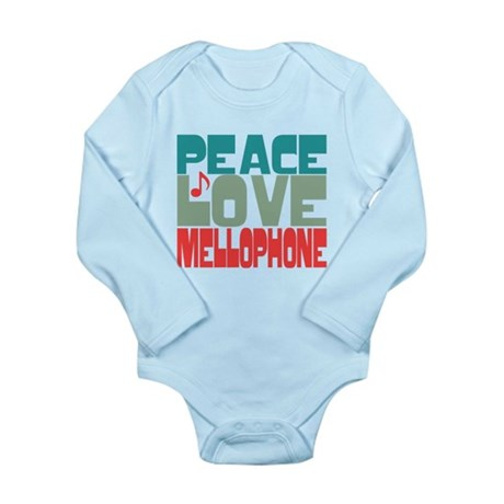 Peace Love Mellophone Long Sleeve Infant Bodysuit
