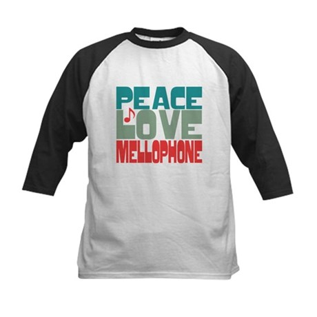 Peace Love Mellophone Kids Baseball Jersey