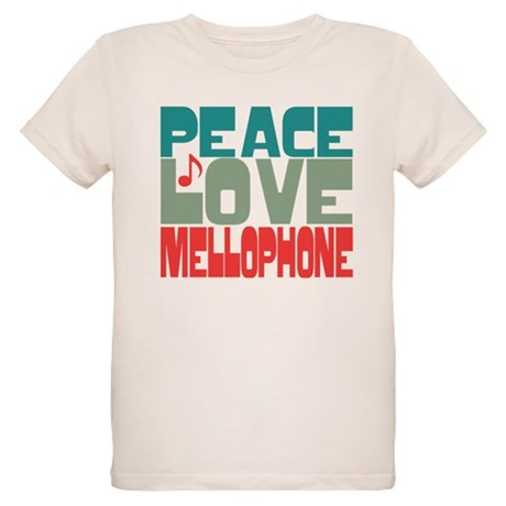 Peace Love Mellophone Organic Kids T-Shirt