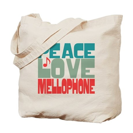 Peace Love Mellophone Tote Bag