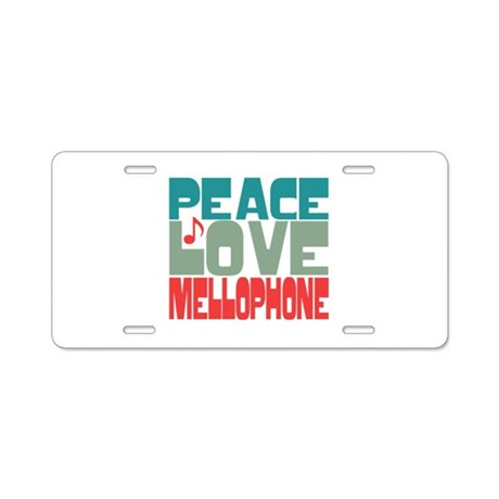 Peace Love Mellophone Aluminum License Plate