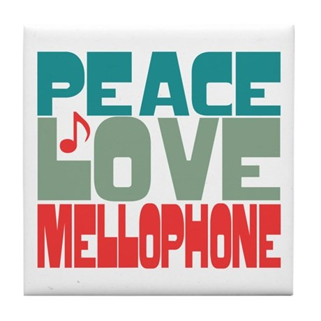 Peace Love Mellophone Tile Coaster