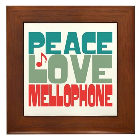 Peace Love Mellophone Framed Tile