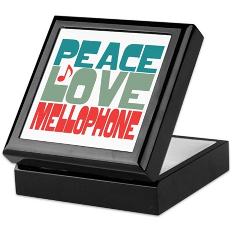 Peace Love Mellophone Keepsake Box