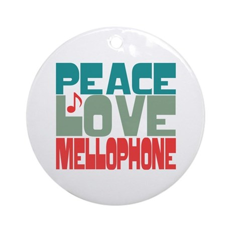 Peace Love Mellophone Ornament (Round)