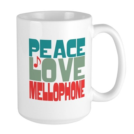 Peace Love Mellophone Large Mug