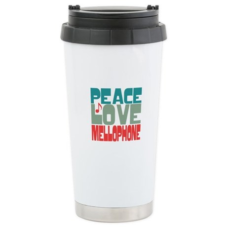 Peace Love Mellophone Ceramic Travel Mug