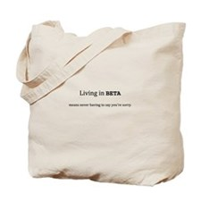 Living in Beta (tote bag)