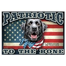 Patriotic - Black Lab Wall Art