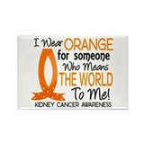 Means World To Me 1 Kidney Cancer Rectangle Magnet