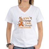 Hope Courage Faith 3 Leukemia Shirt