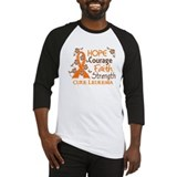 Hope Courage Faith 3 Leukemia Baseball Jersey