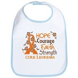 Hope Courage Faith 3 Leukemia Bib