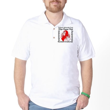Oral Cancer Hope Inspiring Golf Shirt