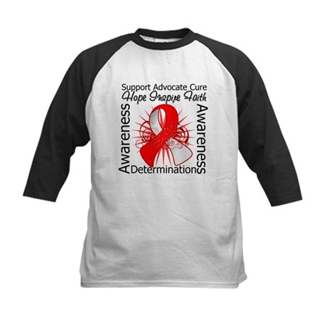 Oral Cancer Hope Inspiring Kids Baseball Jersey