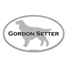 Gordon Setter Oval Decal