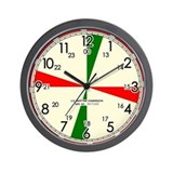 Replica Ships Radio Room Wall Clock / Cream