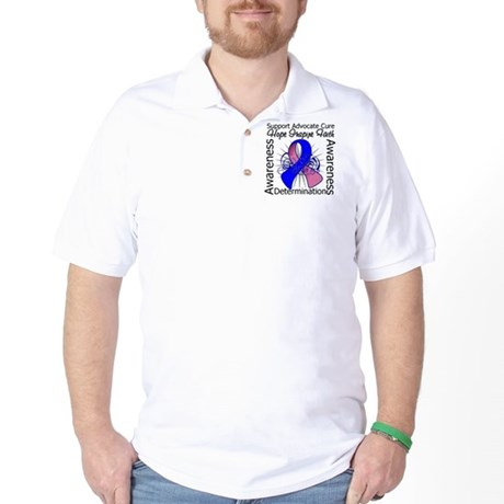 Male Breast Cancer Hope Golf Shirt