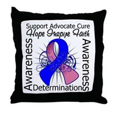 Male Breast Cancer Hope Throw Pillow