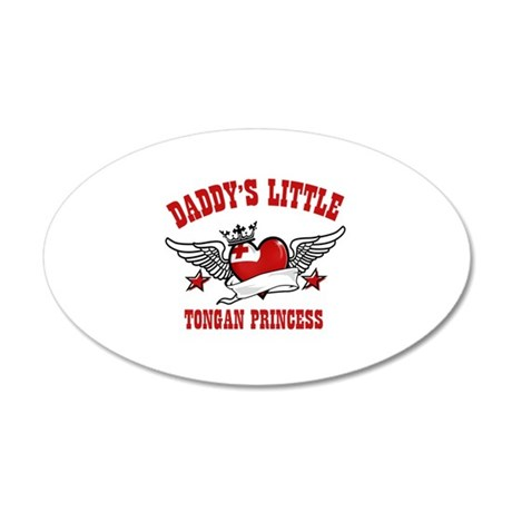 Daddy's little Tongan Princess 22x14 Oval Wall Pee
