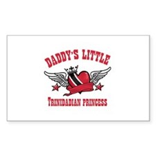 Daddy's Little Trinidadian Princess Decal