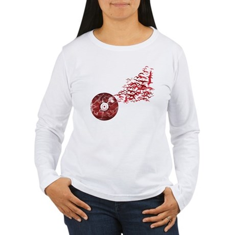 Vinyl Music Birds Women's Long Sleeve T-Shirt