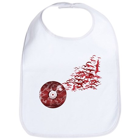 Vinyl Music Birds Bib