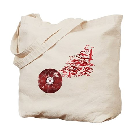 Vinyl Music Birds Tote Bag
