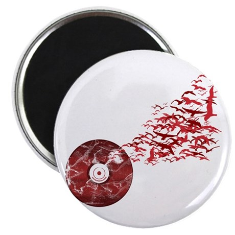 Vinyl Music Birds Magnet