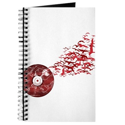 Vinyl Music Birds Journal
