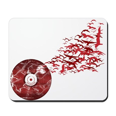 Vinyl Music Birds Mousepad