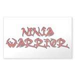 Ninja Warrior Sticker (Rectangle 10 pk)