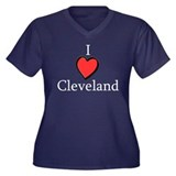 I Love Cleveland - I Heart Cl Women's Plus Size V-