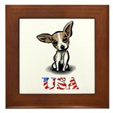 USA Chihuahua Framed Tile