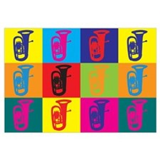 Tuba Pop Art Wall Art