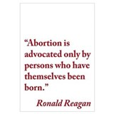 Ronald Reagan Anti-Abortion Quote Wall Art