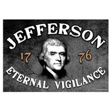 Thomas Jefferson - Eternal Vigilance Wall Art