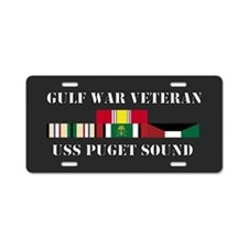 USS Puget Sound Gulf War Veteran Aluminum License