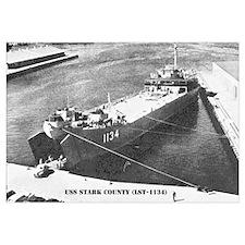 USS STARK COUNTY Wall Art