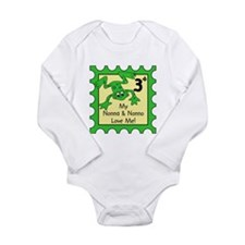 Cute Love frogs Long Sleeve Infant Bodysuit