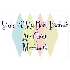 Choir Members Friends Wall Art