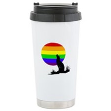 wolf Ceramic Travel Mug