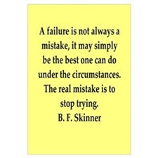 b f skinner quote Wall Art
