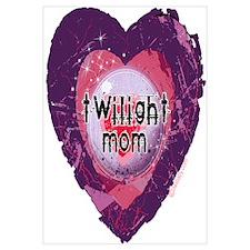 Twilight Mom Violet Grunge Heart Wall Art